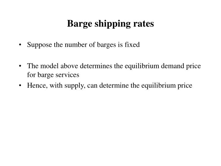 Barge shipping rates