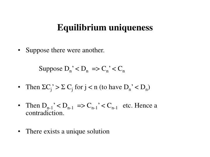 Equilibrium uniqueness