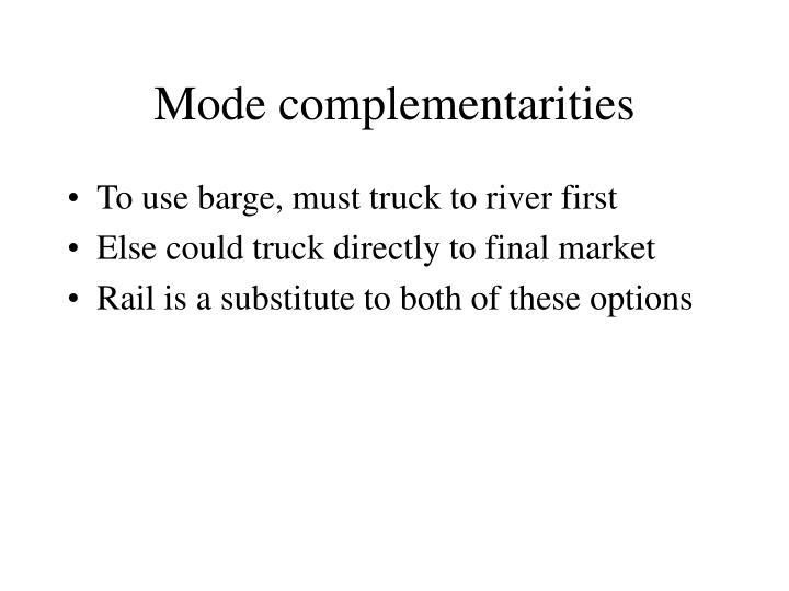Mode complementarities