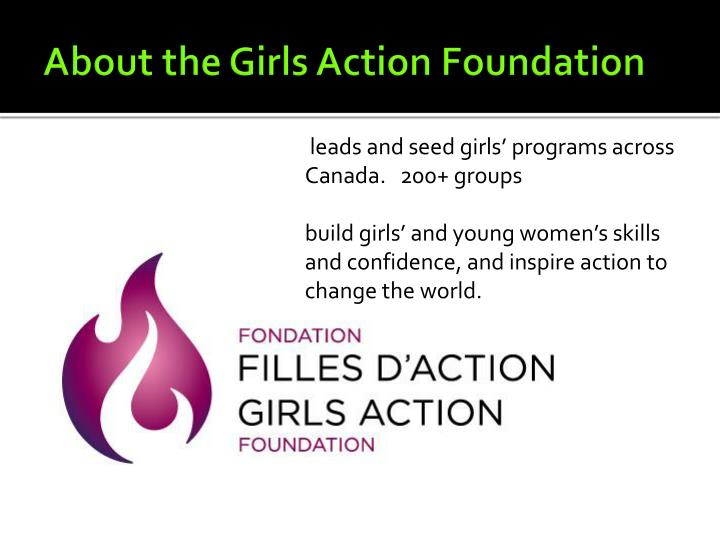 About the Girls Action Foundation
