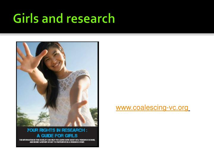 Girls and research