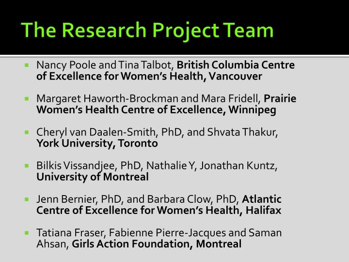 The Research Project Team