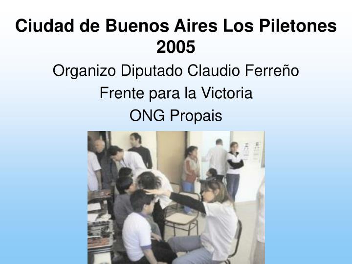 Ciudad de Buenos Aires Los Piletones 2005