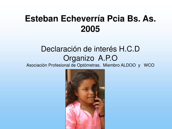 Esteban Echeverría Pcia Bs. As. 2005