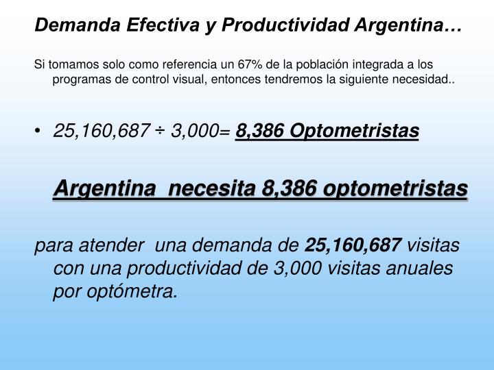 Demanda Efectiva y Productividad Argentina…