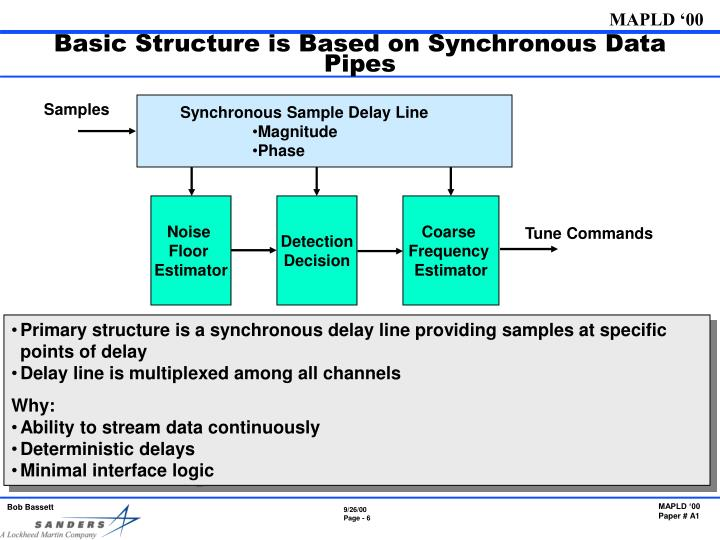 Basic Structure is Based on Synchronous Data Pipes