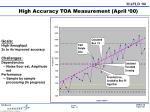 high accuracy toa measurement april 00