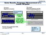 some results frequency measurement of a linear fm pulse