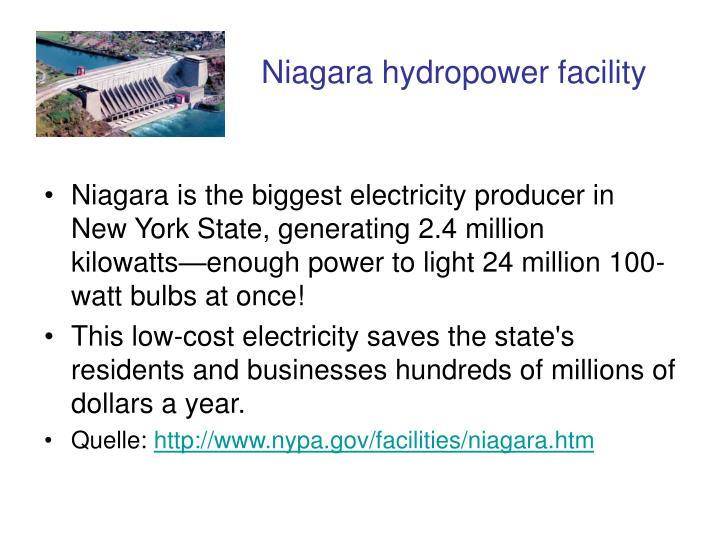 Niagara hydropower facility