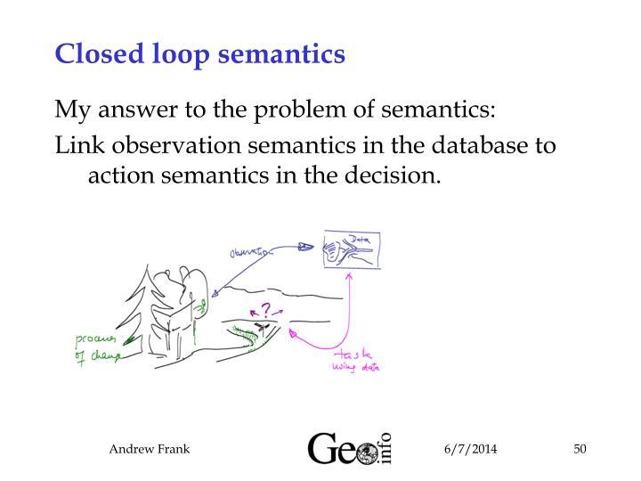 Closed loop semantics