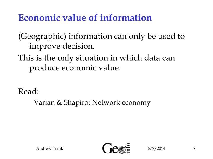 Economic value of information