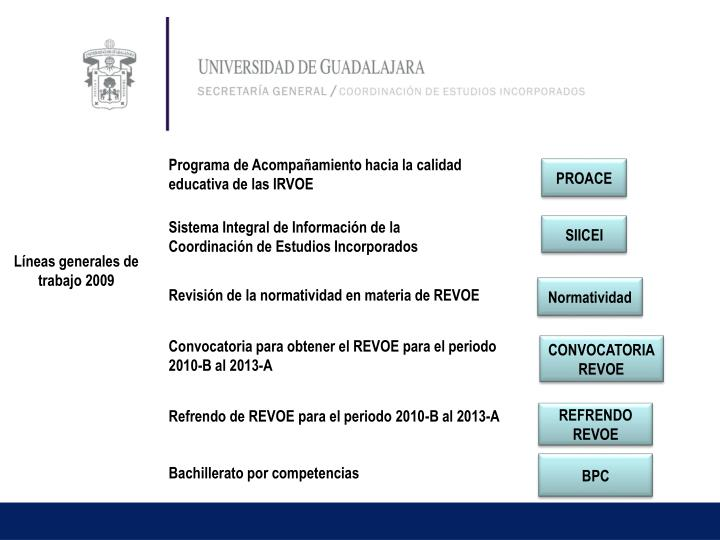 Programa de Acompañamiento hacia la calidad educativa de las IRVOE