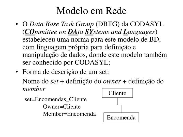 Modelo em Rede