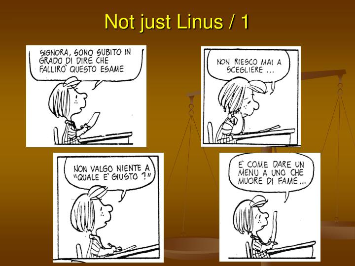 Not just Linus / 1