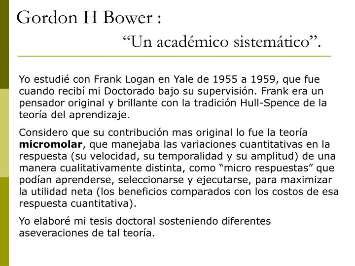 Gordon H Bower :