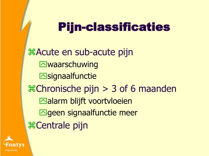 Pijn-classificaties