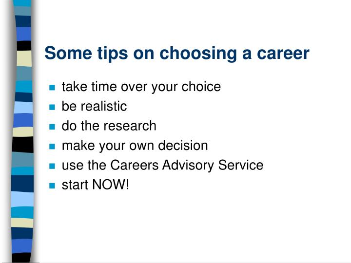 Some tips on choosing a career