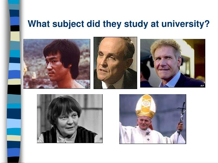 What subject did they study at university?