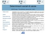 determinanti sociali di salute who europe the solid facts second ed 2003