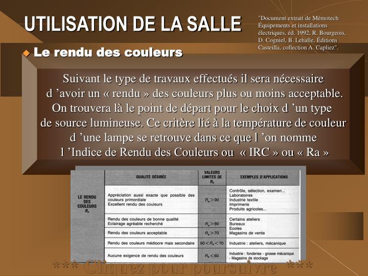 """""""Document extrait de Mémotech Équipements et installations"""