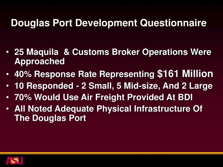 Douglas Port Development Questionnaire