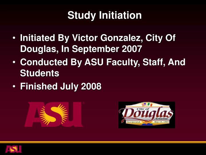 Study Initiation