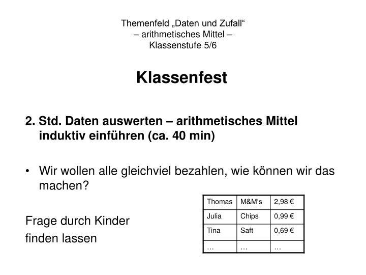"""Themenfeld """"Daten und Zufall"""""""