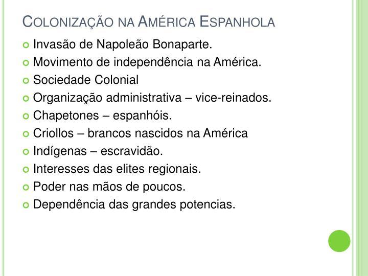 Colonização na América Espanhola