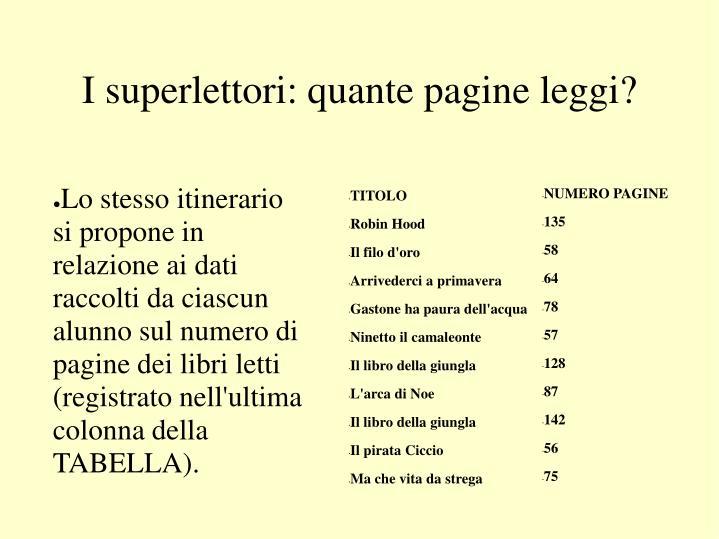 I superlettori: quante pagine leggi?