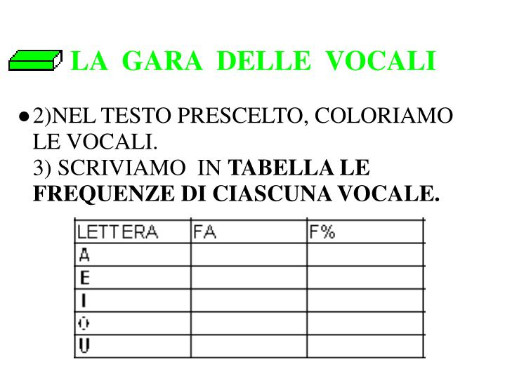 LA  GARA  DELLE  VOCALI