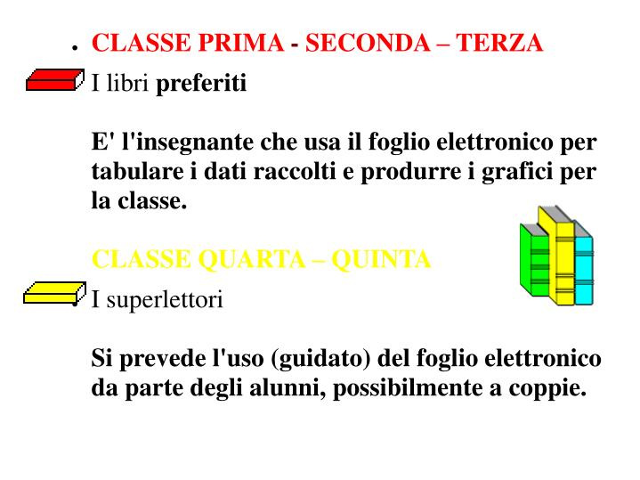 CLASSE PRIMA