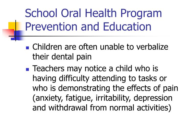 School Oral Health Program