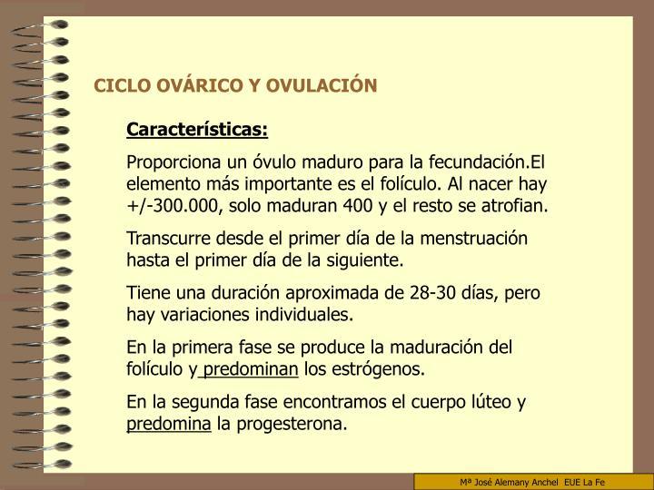 CICLO OVÁRICO Y OVULACIÓN