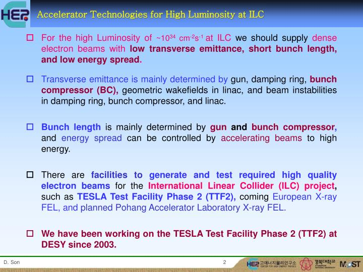 Accelerator Technologies for High Luminosity at ILC