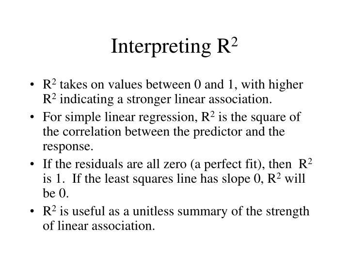 Interpreting R