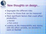 new thoughts on design