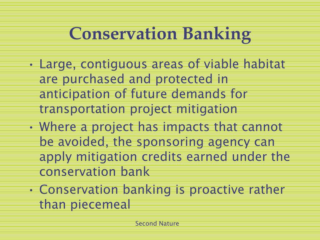 Conservation Banking