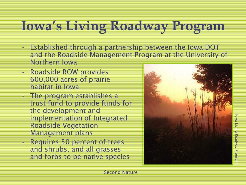 Roadside ROW provides 600,000 acres of prairie habitat in Iowa
