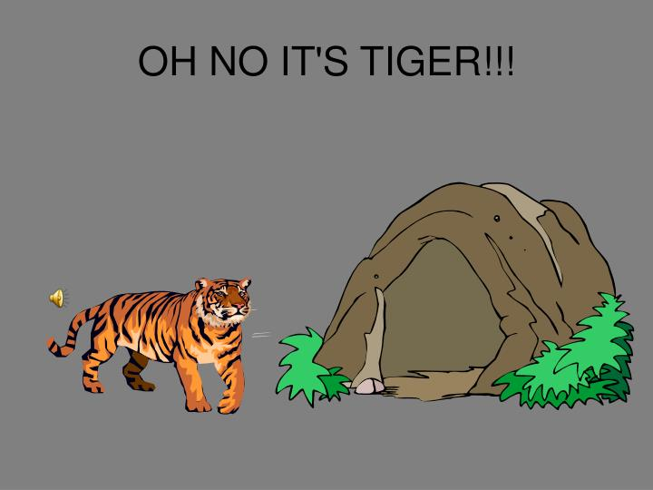 OH NO IT'S TIGER!!!