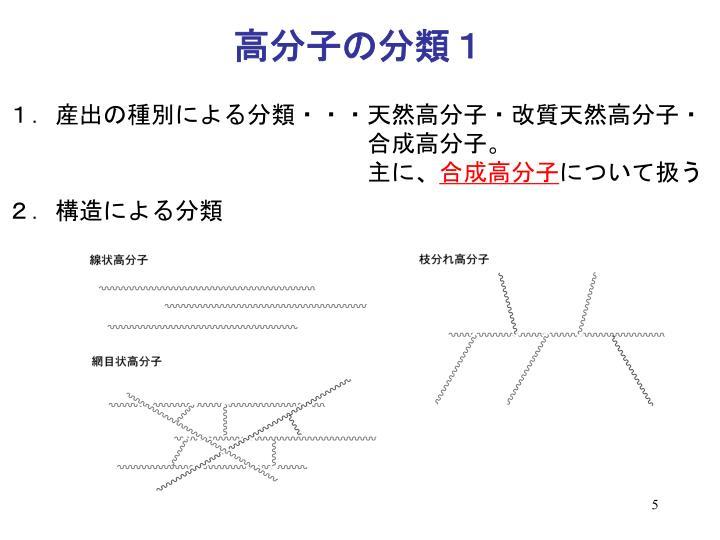 高分子の分類1
