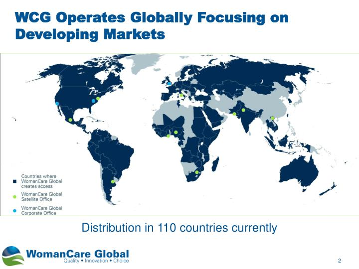 WCG Operates Globally Focusing on
