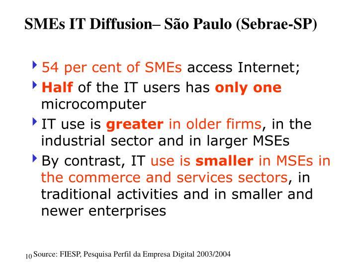 SMEs IT Diffusion– São Paulo (Sebrae-SP)