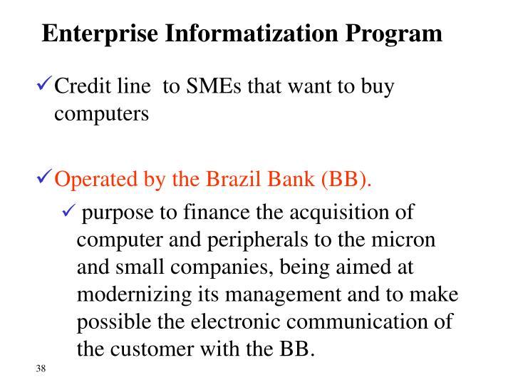 Enterprise Informatization Program