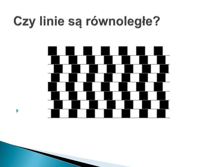 Czy linie są równoległe?