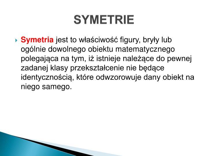 SYMETRIE
