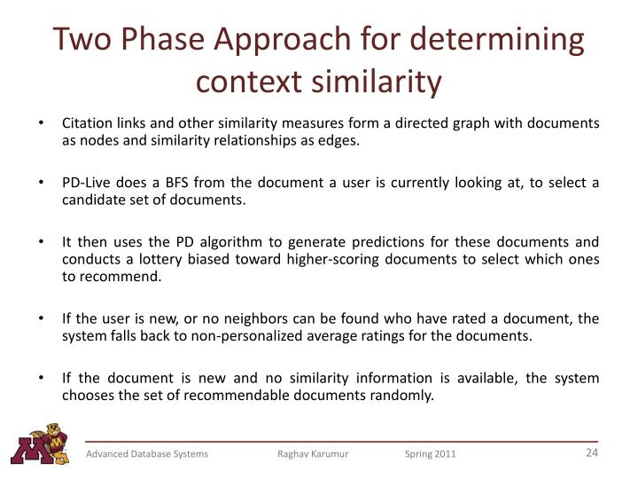 Two Phase Approach for determining context similarity