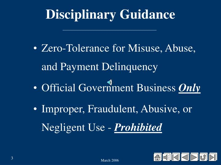 Disciplinary Guidance