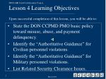 don air card certification course lesson 4 learning objectives