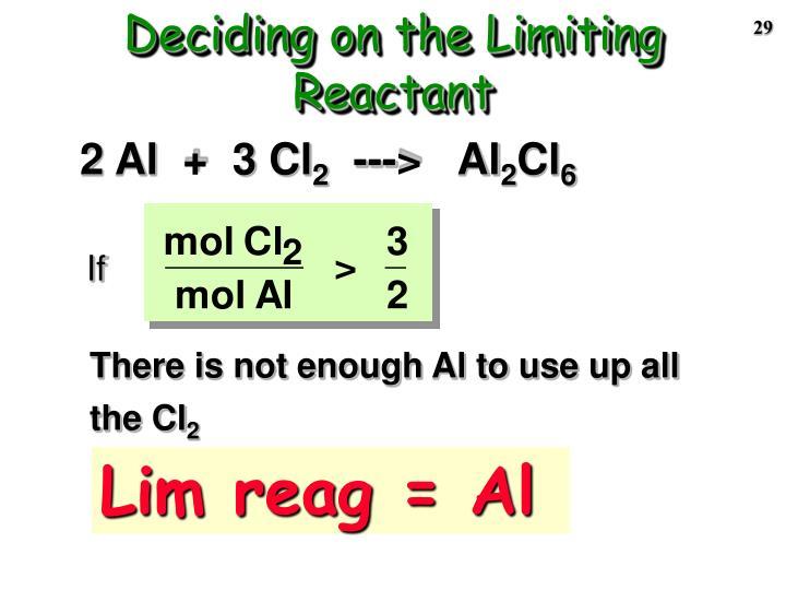 Deciding on the Limiting Reactant