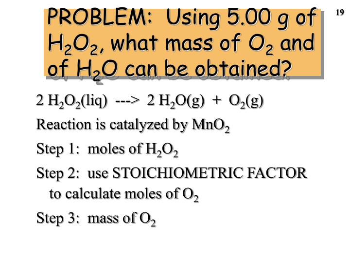 PROBLEM:  Using 5.00 g of H